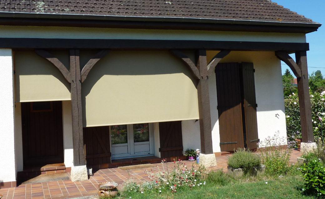 Store Extérieur Vertical pour une terrasse couverte - Rue du ...