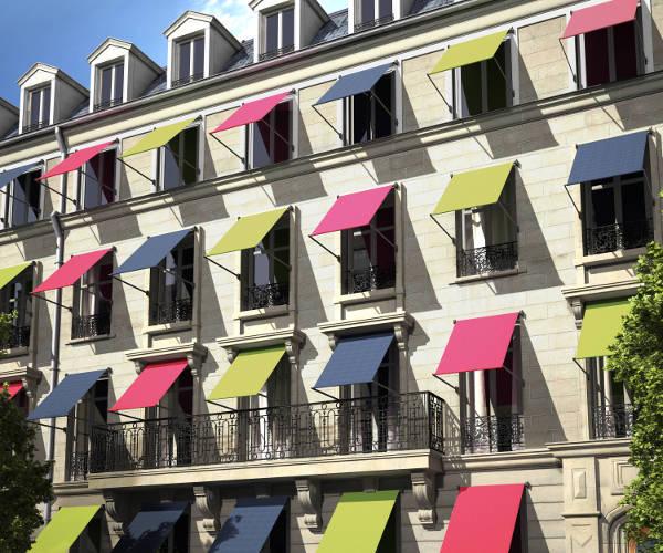 Stores à projection multicolors
