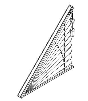 côté cordon store plissé triangle