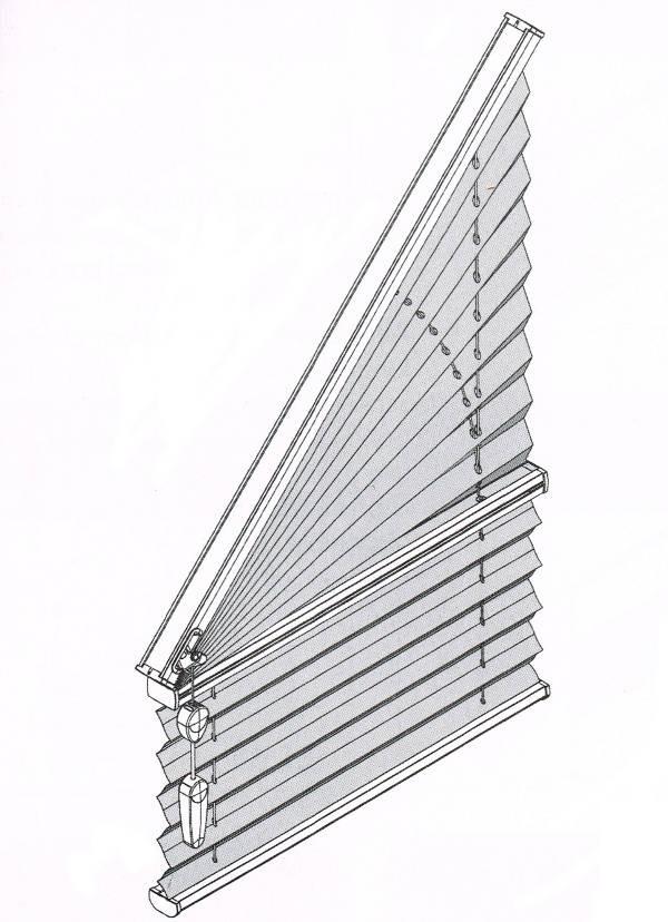 côté cordon store plissé trapèze