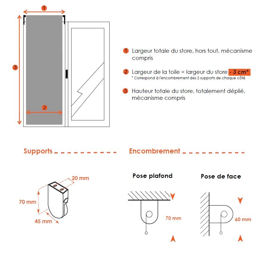 dimensions store enrouleur chainette