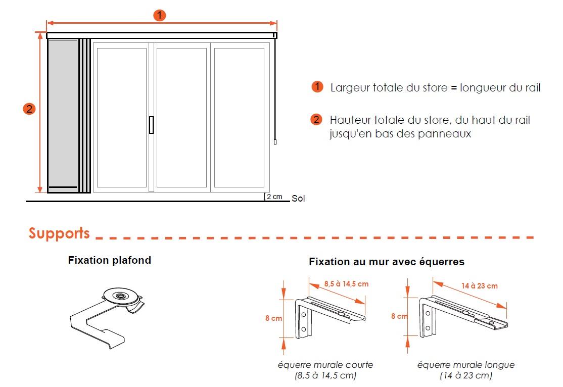 dimensions panneaux japonais