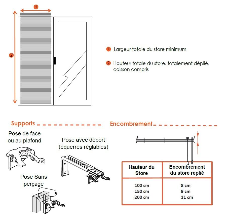 dimensions vénitien alu 15 mm